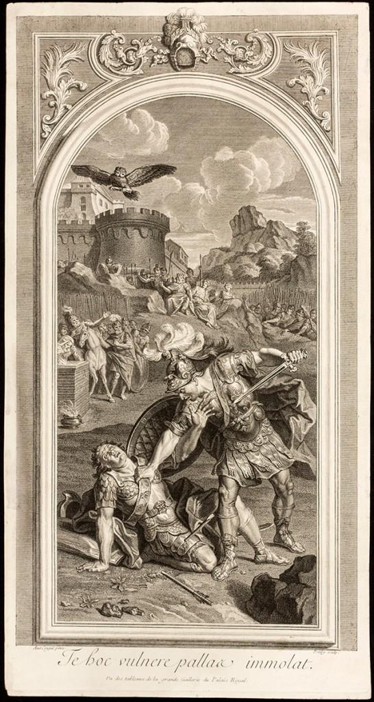La mort de Turnus – Antoine Coypel