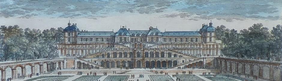 Gravure rehaussée du XVIIème siècle