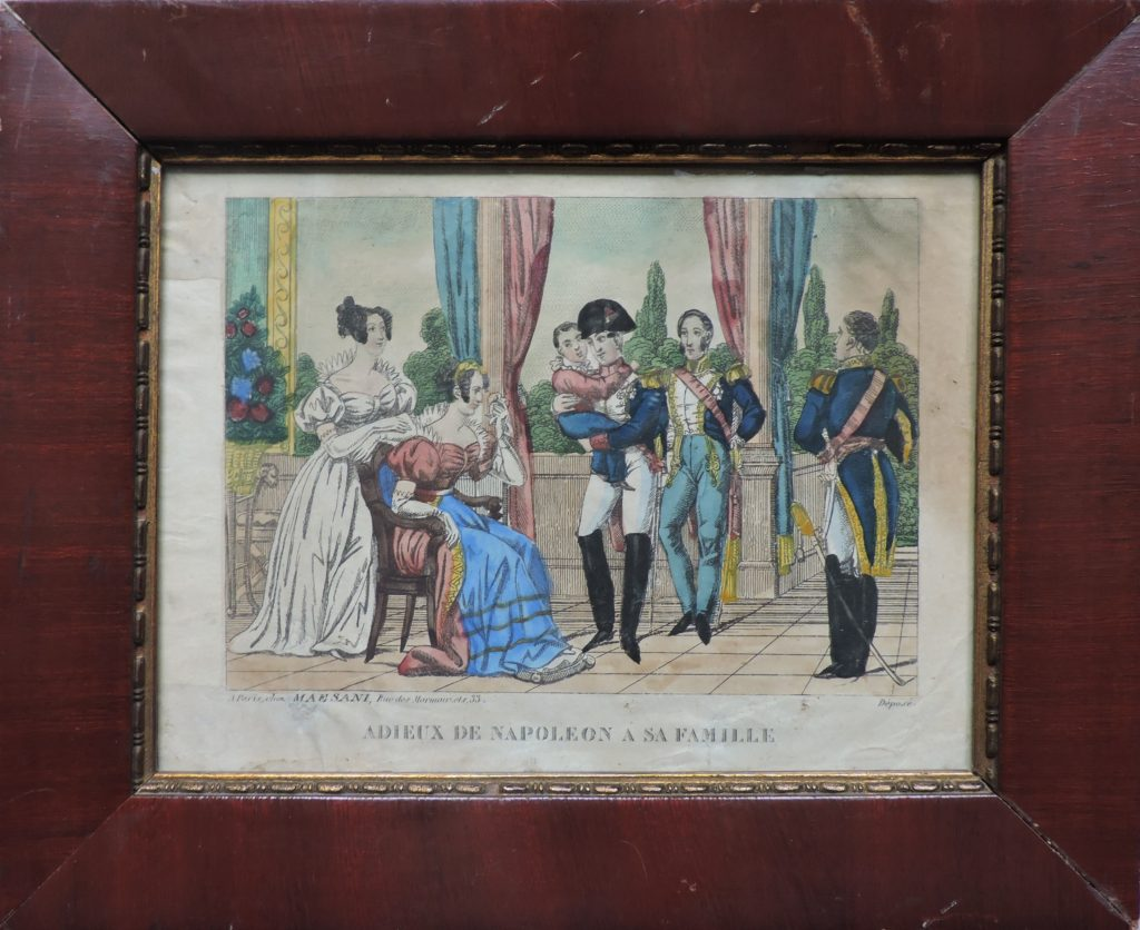 Adieux de Napoléon à sa famille